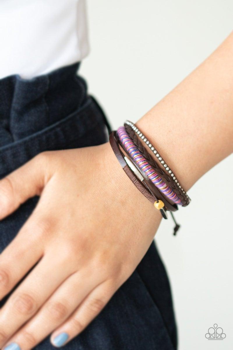 Wander-Struck - Brown Urban Bracelet