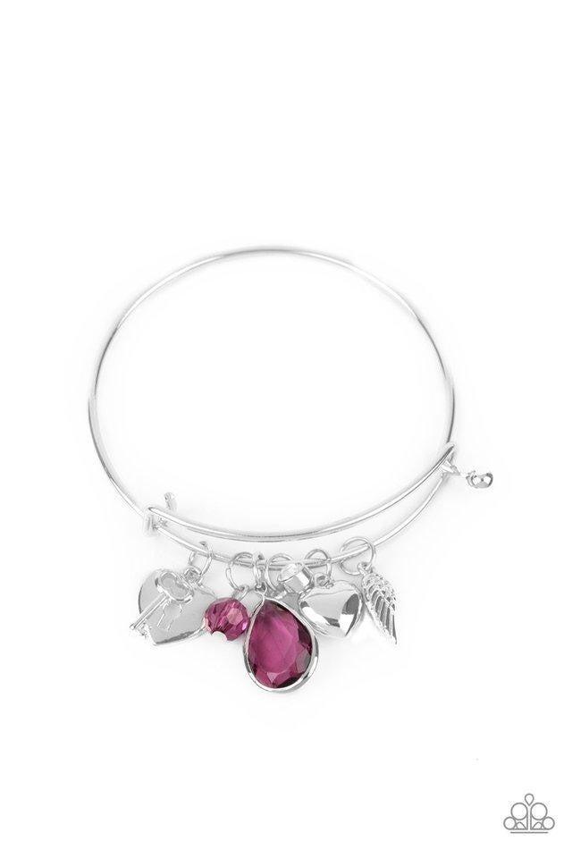 Heart of BOLD - Purple Hinge Bangle