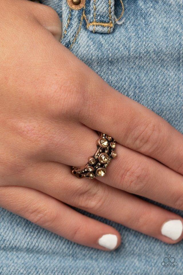Bubbly Effervescence - Copper Ring