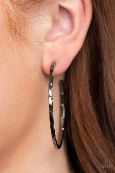 Unregulated - Gunmetal Hoop Earrings