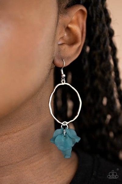 Petals On The Floor - Blue Earrings