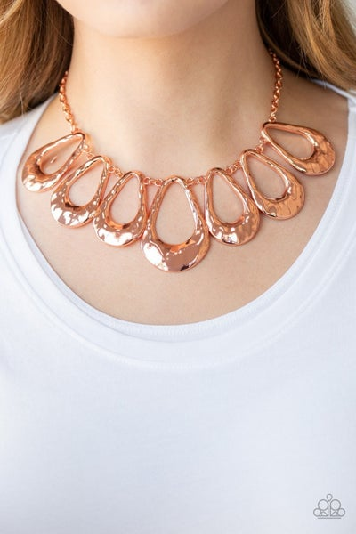 Teardrop Envy - Copper Necklace