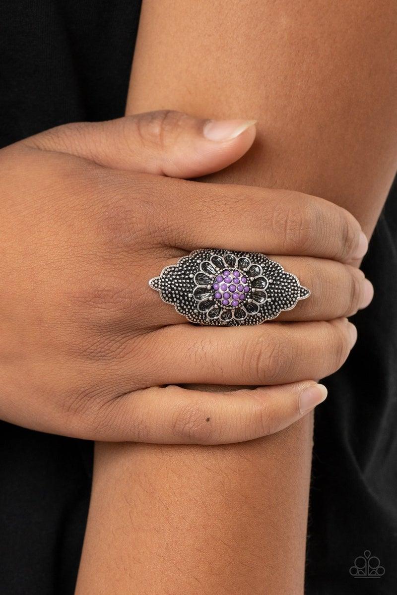 Wildly Wallflower - Purple Ring