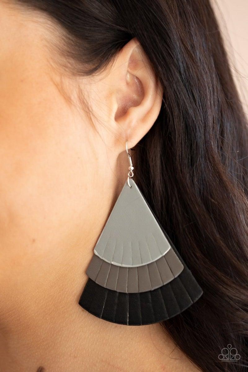Huge Fanatic - Black Earrings