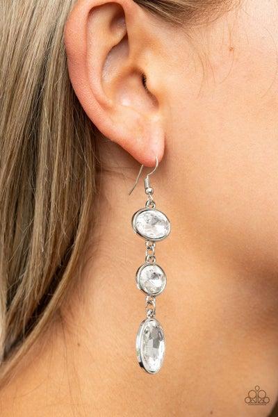 The GLOW Must Go On! - White Earrings