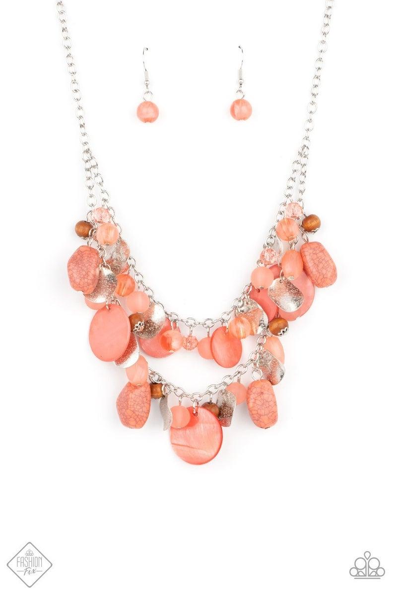 Spring Goddess - Orange Necklace - April 2021 Fashion Fix