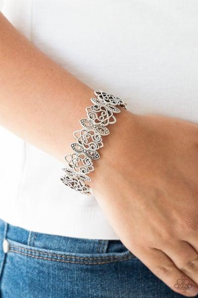 When Yin Met Yang - Silver Stretchy Bracelet