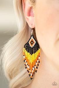 Wind Blown Wanderer - Yellow Earrings