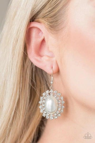 Mega Movie Star - White Earrings