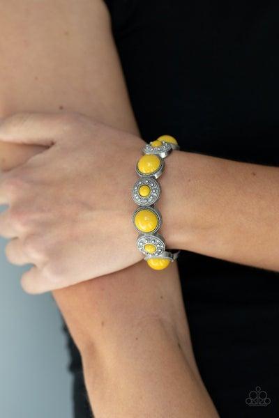 Garden Flair - Yellow Stretchy Bracelet