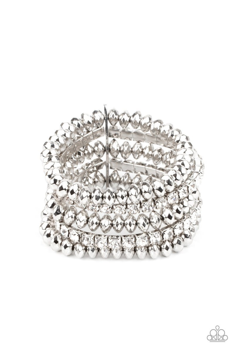 Best of LUXE - Silver Stretchy Bracelet - Life of the Party March 2021