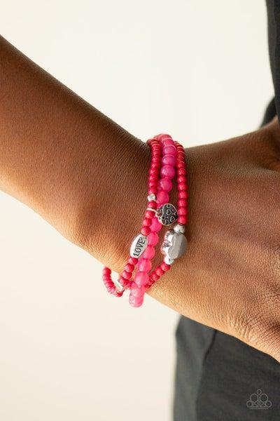 Really Romantic - Pink Stretchy Bracelet
