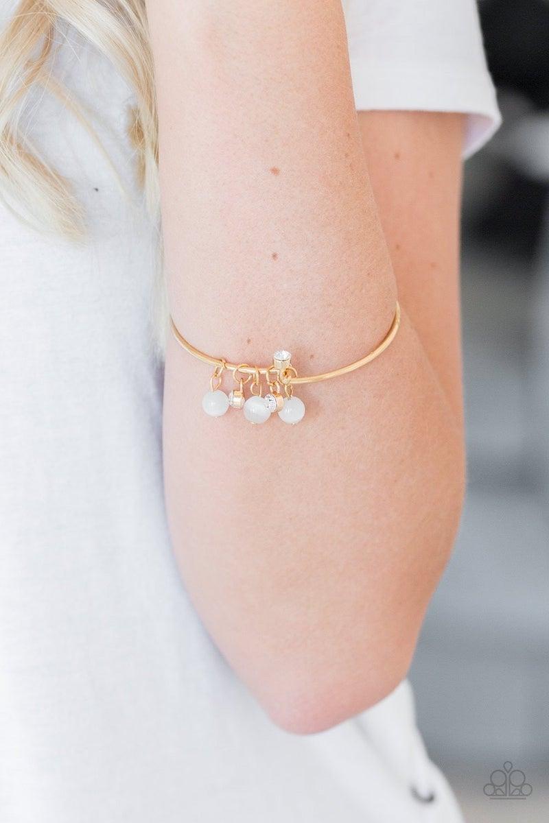 Marine Melody - Gold Hinged Bracelet