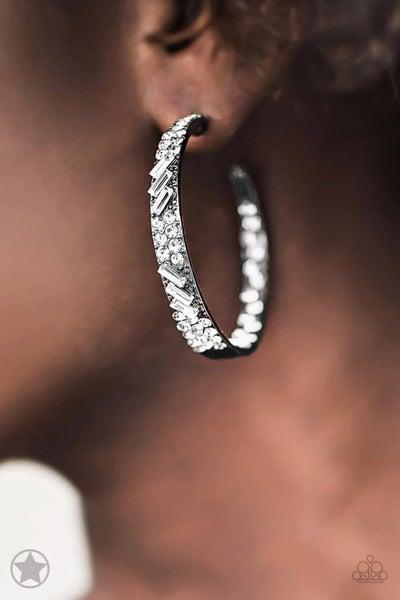GLITZY By Association - Gunmetal Hoop Earrings