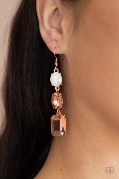 Dripping In Melodrama - Copper Earrings
