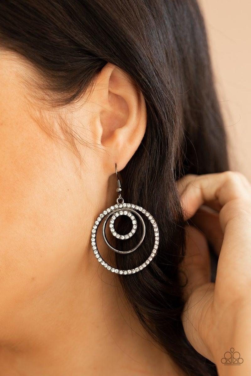 Bodaciously Bubbly - Gunmetal Earrings