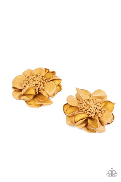 Full On Floral - Yellow Hair Clip