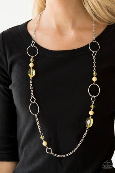 Very Visionary - Yellow Necklace