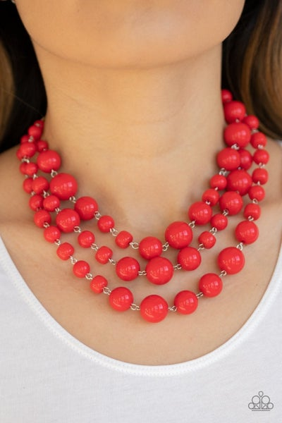 Everyone Scatter - Red Necklace