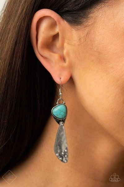 Going-Green Goddess - Blue Earrings - March 2021 Fashion Fix