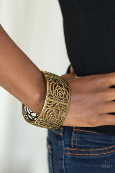 Victorian Variety - Brass Stretchy Bracelet