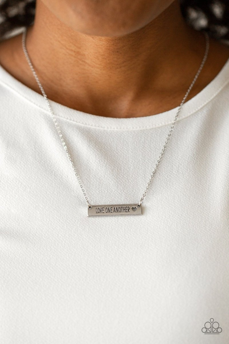 Love One Another - Silver Necklace