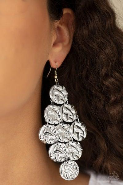 Metro Trend - Silver Earrings