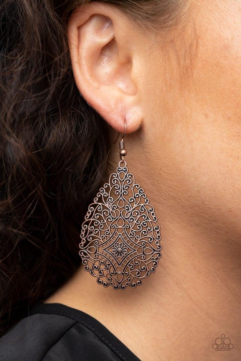 Napa Valley Vintage - Copper Earrings