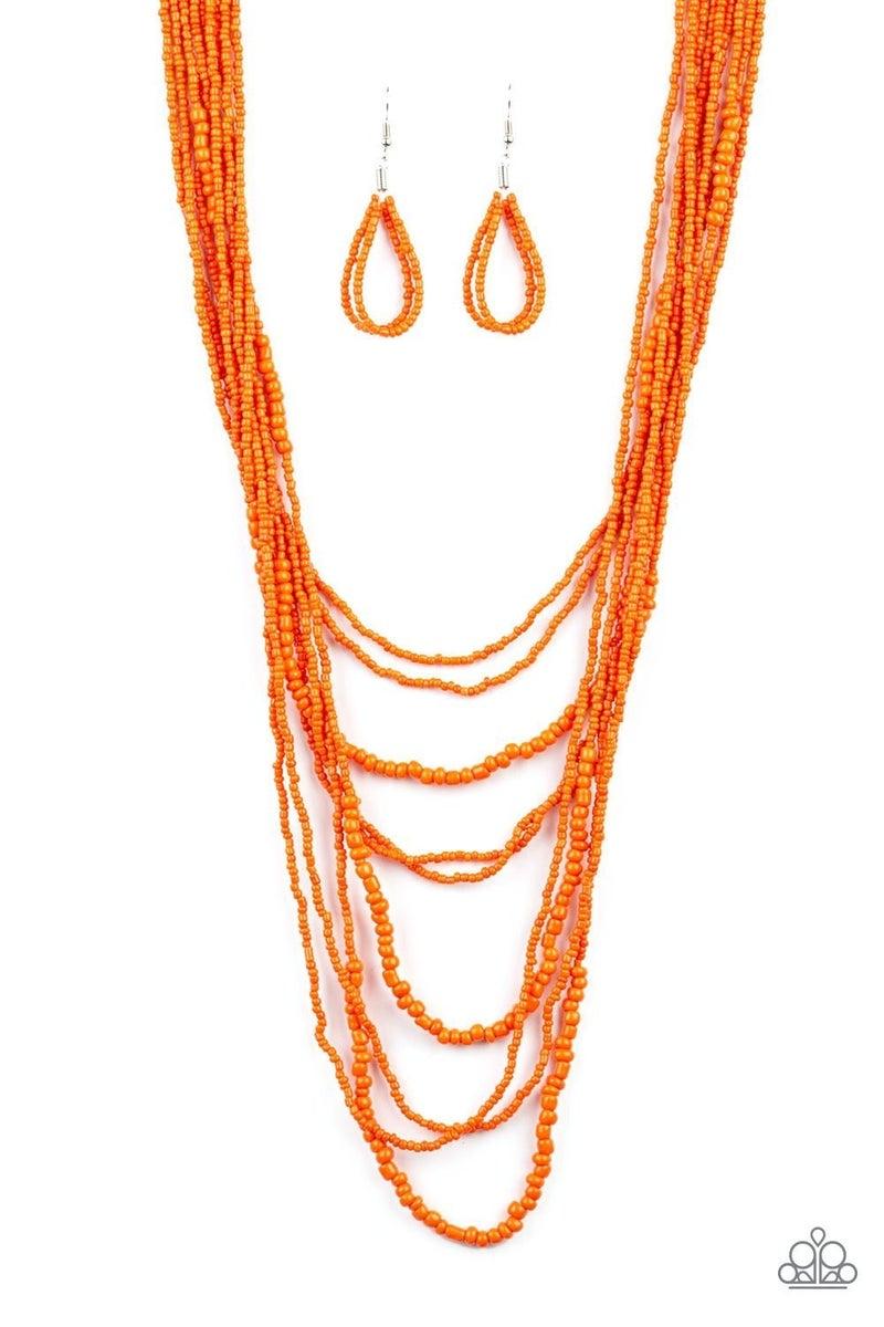 Totally Tonga - Orange Necklace