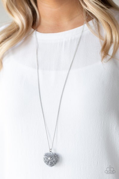 Love Is All Around - Silver Necklace