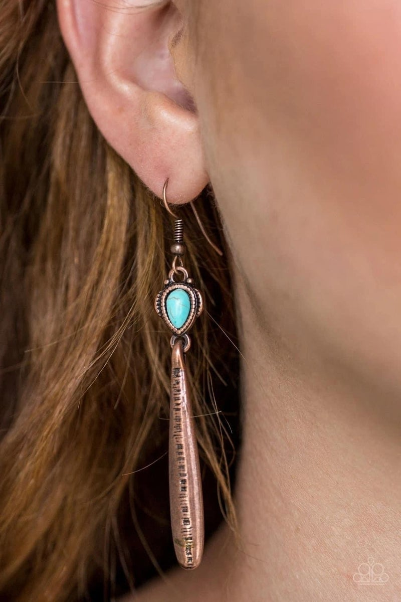 Colorfully Canyonland - Copper Earrings