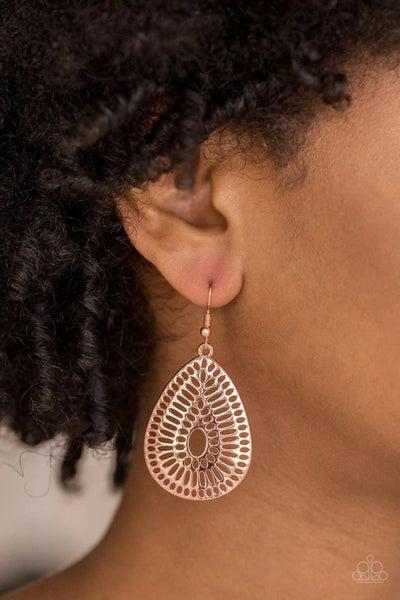 You Look GRATE! - Copper Earrings