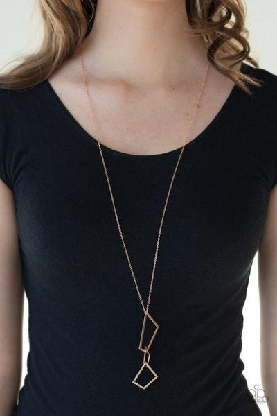 Shapely Silhouettes - Copper Necklace