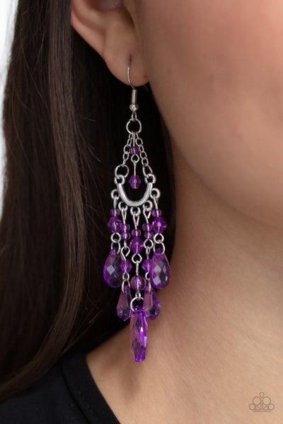 Paid Vacation - Purple Earrings