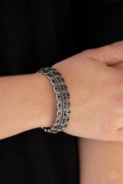 Modern Magnificence - Black Stretchy Bracelet