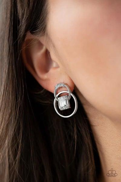 Dangerously Dapper - White Earrings