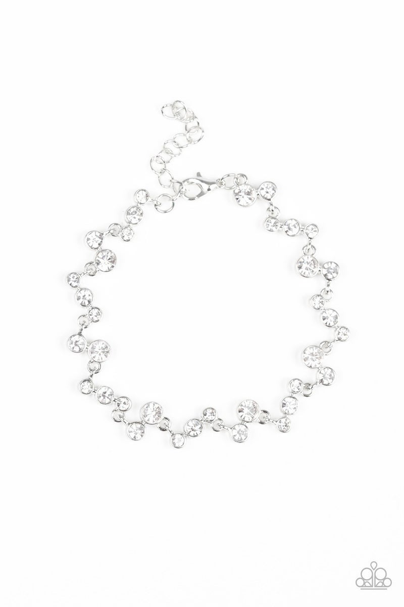 Starlit Stunner - White Clasp Bracelet