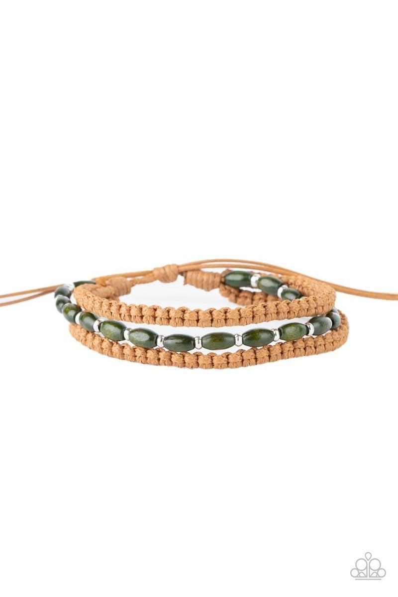 Refreshingly Rural - Green Urban Bracelet