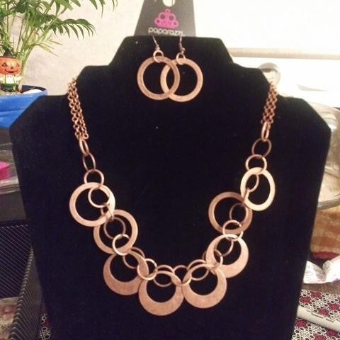 In Full Orbit - Copper Necklace