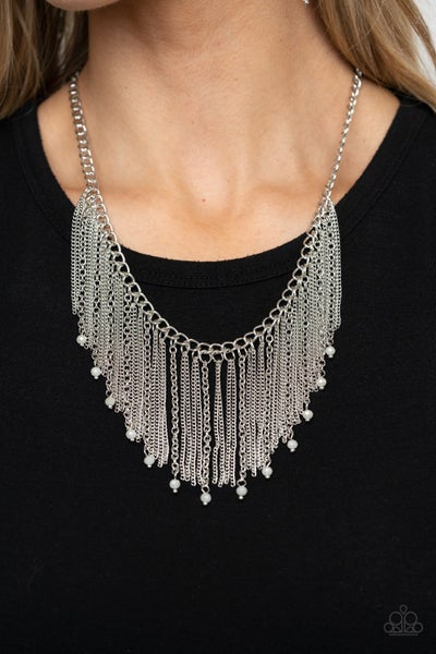 Cue The Fireworks - White Necklace