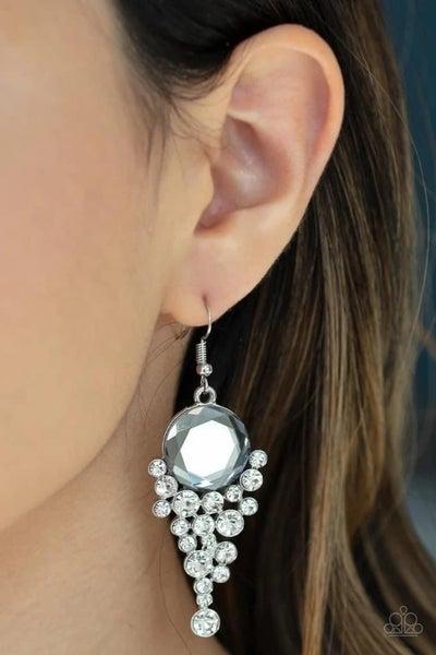 Elegantly Effervescent - White Earrings