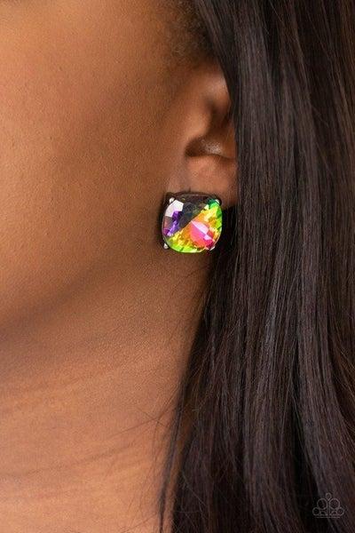 Royalty High - Gunmetal/Multi Earrings