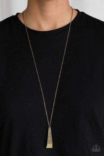 Prized Pendulum - Brass Necklace