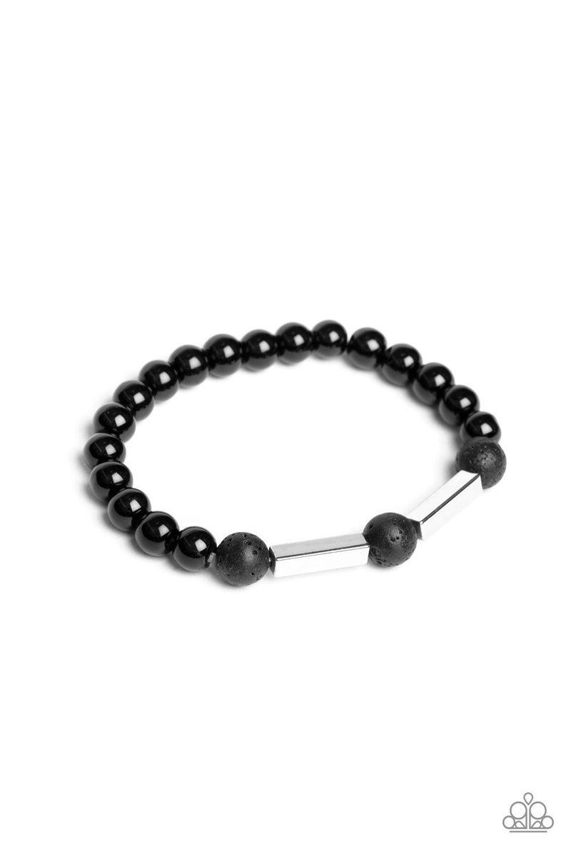 Metro Meditation - Silver Lava Bracelet