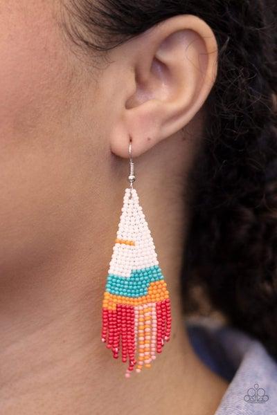 Summer Heat - White Earrings