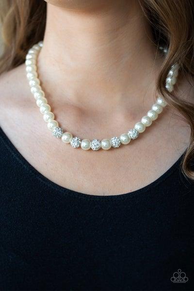 Posh Boss - White Necklace