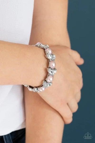 Opulent Oasis - Pink Stretchy Bracelet