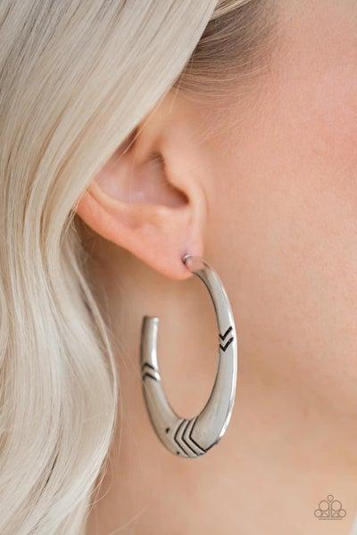 Tribe Pride - Silver Hoop Earrings