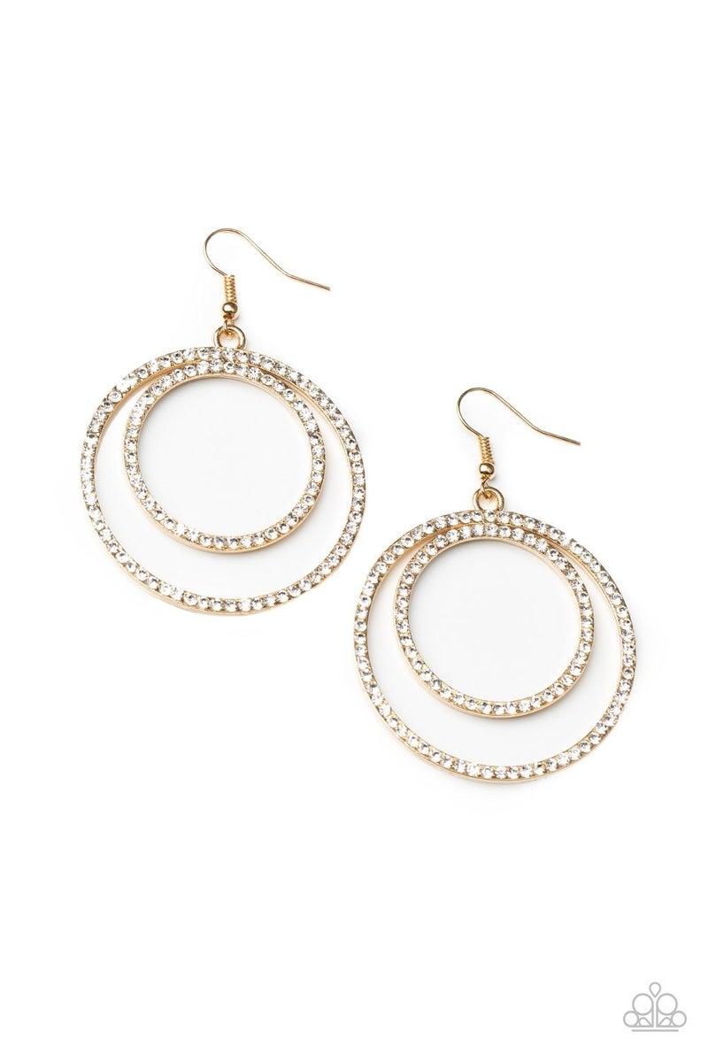 Radiating Refinement - Gold Earrings