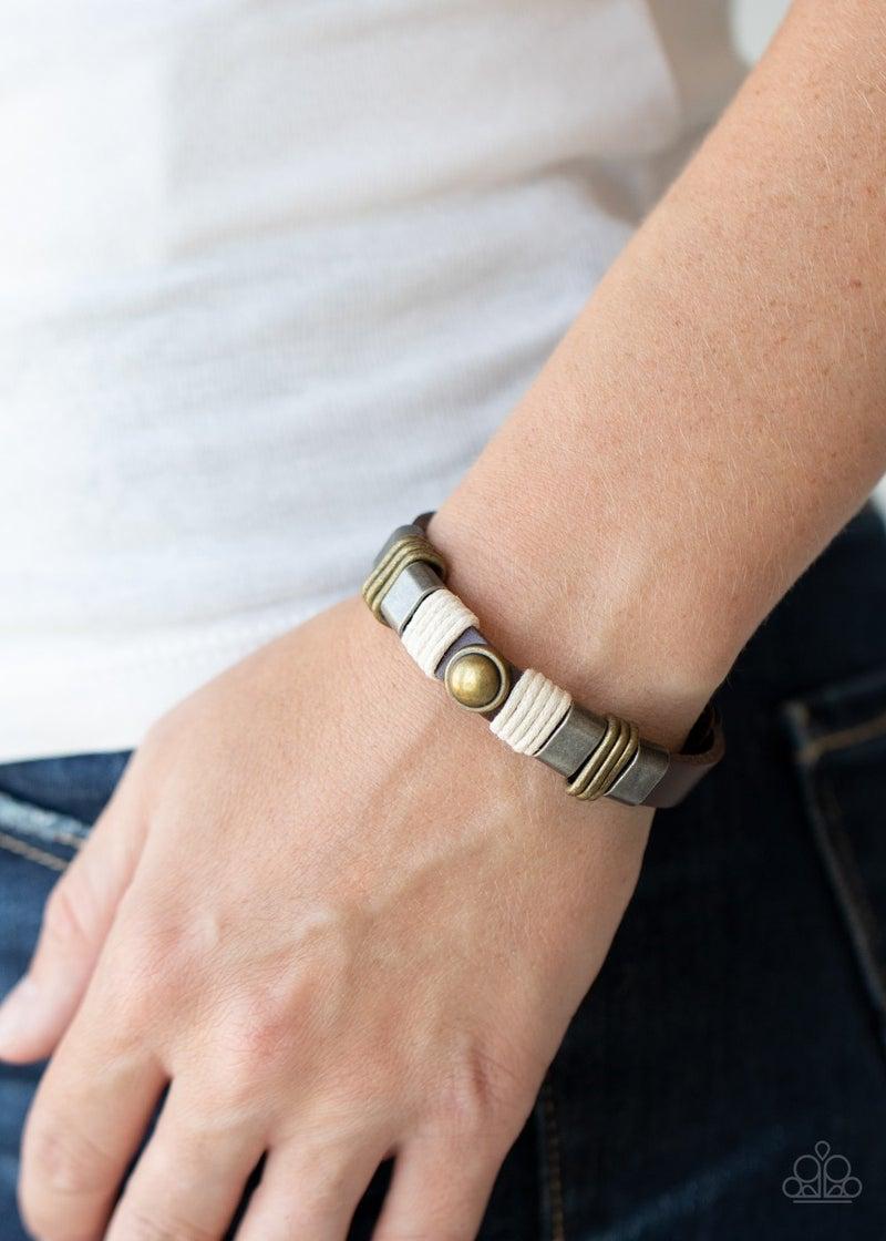 Rev It Up - Brown Urban Bracelet